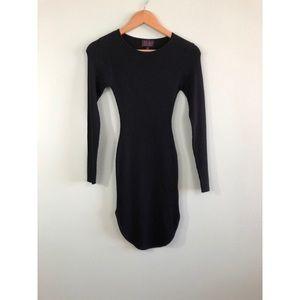 Long sleeve Kylie dress in black
